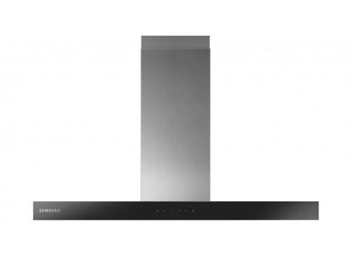 Samsung NK36M5070BS - Hotte - hotte décorative - largeur : 90 cm - profondeur : 46.7 cm - evacuation & recyclage - verre inox/noir