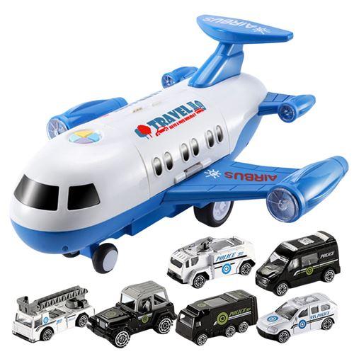 Avion De Stockage Mini Voiture Avec Éclairage Bleu Ka90