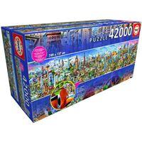 Puzzle Educa 42000 pièces Autour du Monde