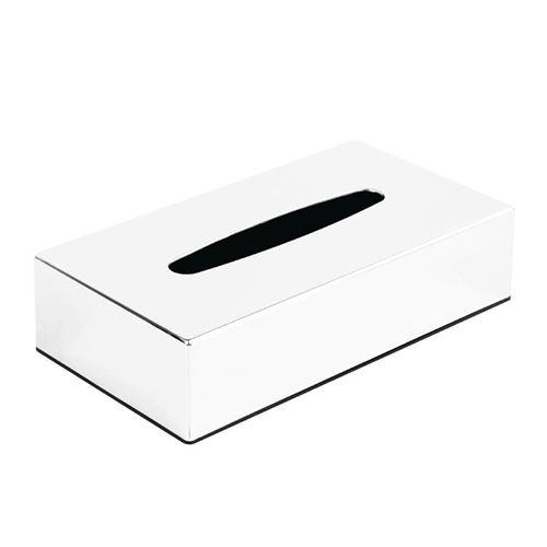 Boîte à mouchoirs chromée rectangulaire