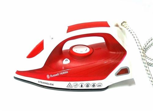 Russell Hobbs - 22060-10 - Fer vapeur Steamglide Pro 2600 W - Rouge