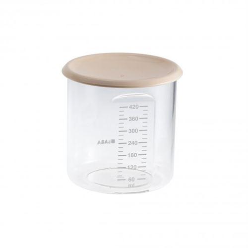 Pot de conservation maxi + portion 420 ml nude - beaba