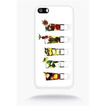 Coque Boissons De L'été Fond Blanc Compatible Apple Iphone 5s Silicone Blanc Mat