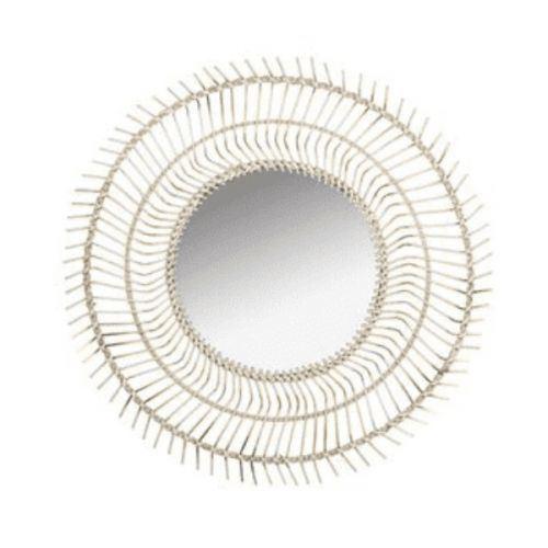 Miroir (77 x 4 x 77 cm) Bambou