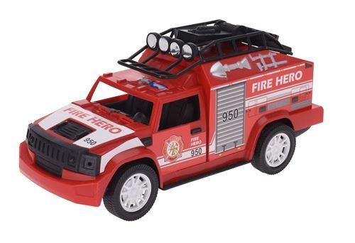 Tender Toys voiture de pompiers 30 cm rouge