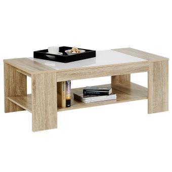 brillant sonomablanc Table basse NOVO MDF décor uTFKJlc31