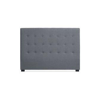 b2c06e4181da5 Tête de lit capitonnée 160 cm Tissu Gris SOMY - Achat & prix   fnac