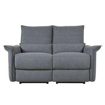 canap relax lectrique avec ttire amovible acidalie gris anthracite 2 places achat prix fnac - Canape Electrique Relax
