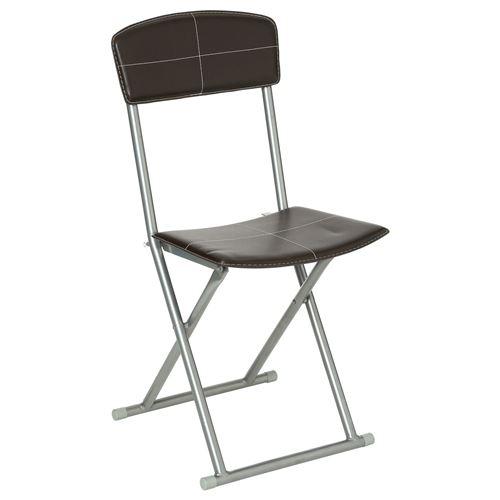 Atmosphera - Chaise pliante - PVC - Marron - Marron