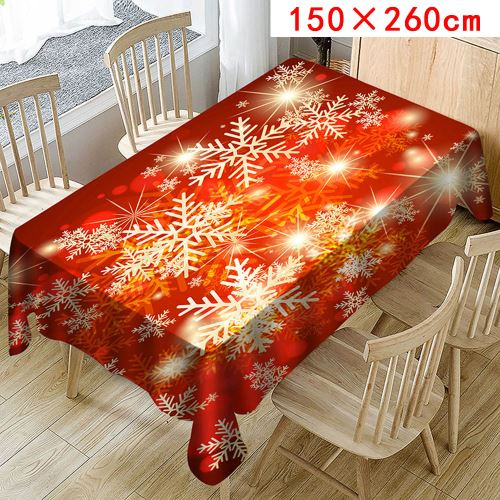 Nappe de Noël Imprimer Rectangle Table Cover Holiday Party Home Decor_Kiliaadk325