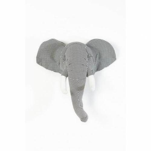 Trophée abstrait Éléphant pied-de-poule andrew - wild & soft