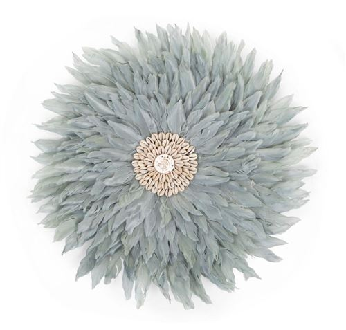 CHILDHOME Juju Feathers Decoration Murale 30 Cm Gris Clair