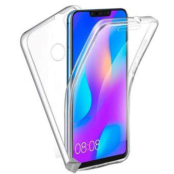 Housse etui coque silicone gel 360 integrale pour Huawei P Smart (2019) avec film ecran - TRANSPARENT