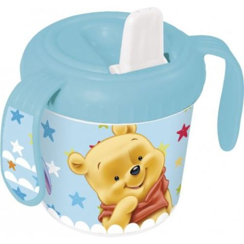 Tasse d'apprentissage Winnie l'ourson Bleue
