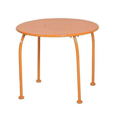 Table extérieur enfant Bari Hespéride orange