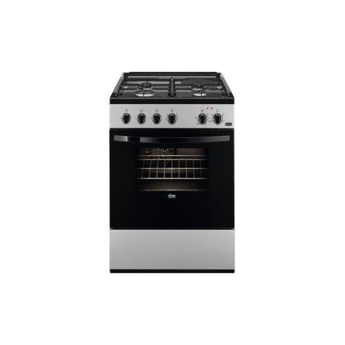 Faure FCM650HCSA - Cuisinière - pose libre - largeur : 60 cm - profondeur : 60 cm - hauteur : 88.9 cm - avec système auto-nettoyant - argent