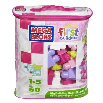 MEGA BLOKS FIRST BUILDERS BIG BUILDING BAG (60PCS)(PINK)