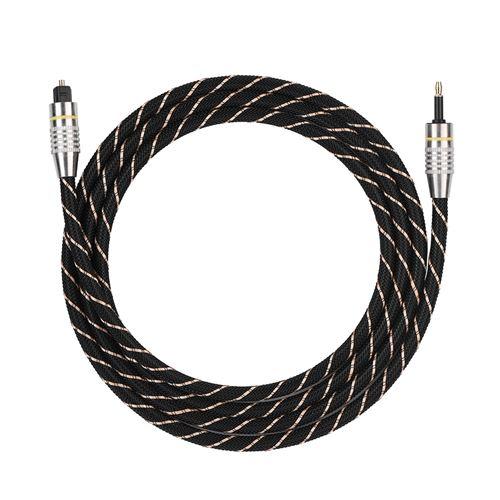 Câble audio Toslink vers Mini Plug Câble Audio 3.5mm SPDIF Connecteur Plaqué Or 1.5m