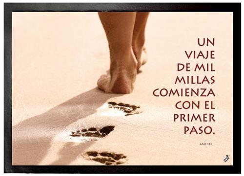 Motivation Paillasson Essuie-Pieds - Un Viaje De Mil Millas Comienza Con El Primer Paso (50x70 cm)