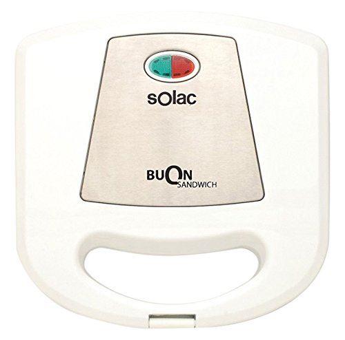 Solac sd5052 – Croque Monsieur Plaques Anti-adhésives, couleur blanc