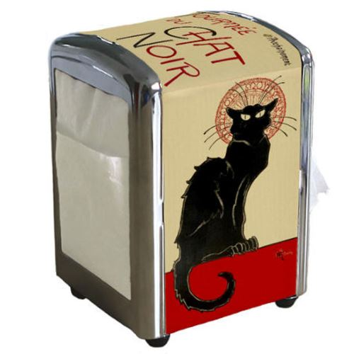 Distributeur de serviettes Chat Noir