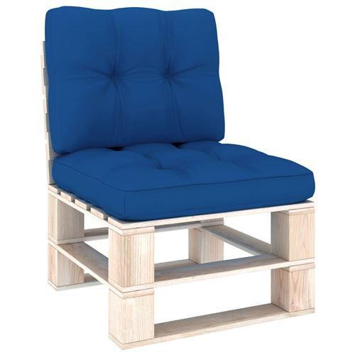 Coussins de canapé de jardin extérieur 50 x 50 x 12cm Bleu