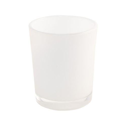 bougeoir blanc brillant 5.6x6.5cm
