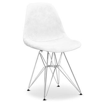 Myfaktory Chaise Deser Fill Tissu Blanc