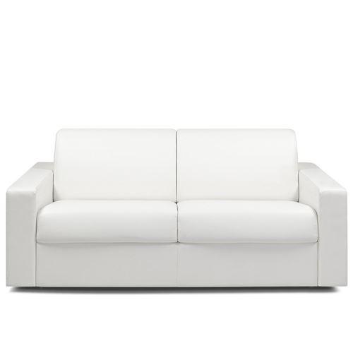 Canapé convertible MIDNIGHT RAPIDO 140cm matelas 16cm revêtement polyuréthane blanc