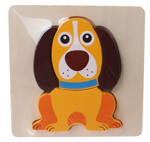 Jouéco chien de puzzle de forme en bois 5-pièces