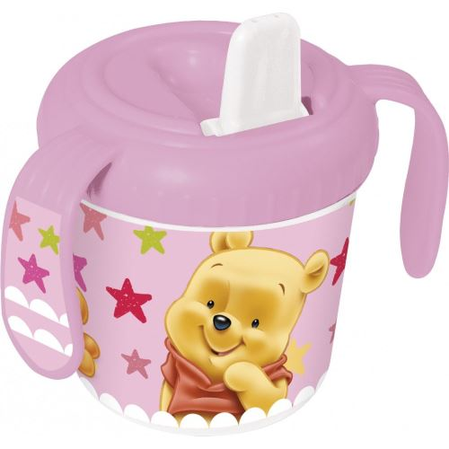 Tasse d'apprentissage Winnie l'ourson Rose