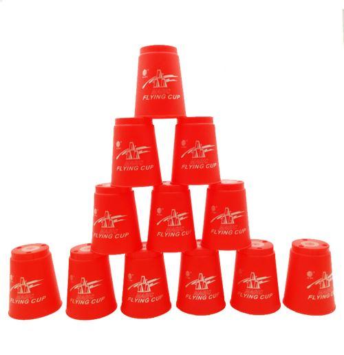 12pcs / set Cup Magic jeu volant Utilisation de la compétition Sports Jouets RD
