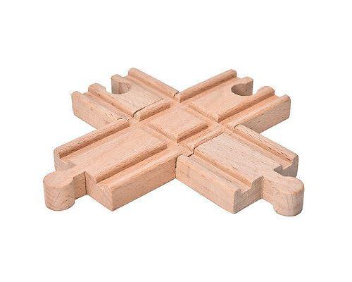 1Pcs La voie ferrée bifurquée en bois de chemin de fer joue compatible toutes les marques principales