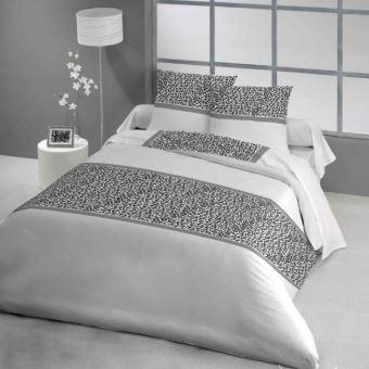 parure drap plat 240x290cm drap housse 140x190cm 2 taies. Black Bedroom Furniture Sets. Home Design Ideas