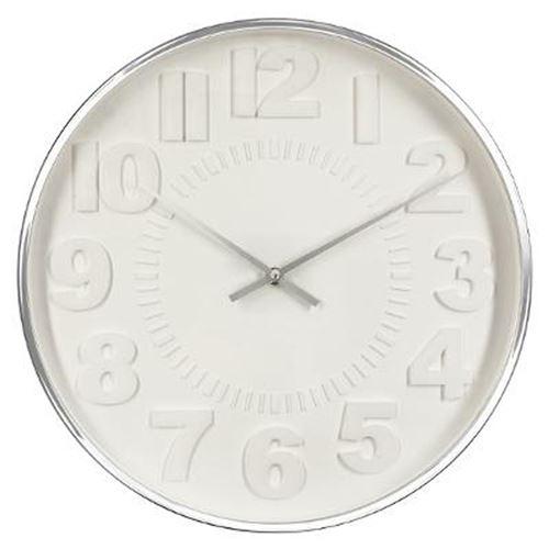 Horloge Murale Contemporain 40cm Argent
