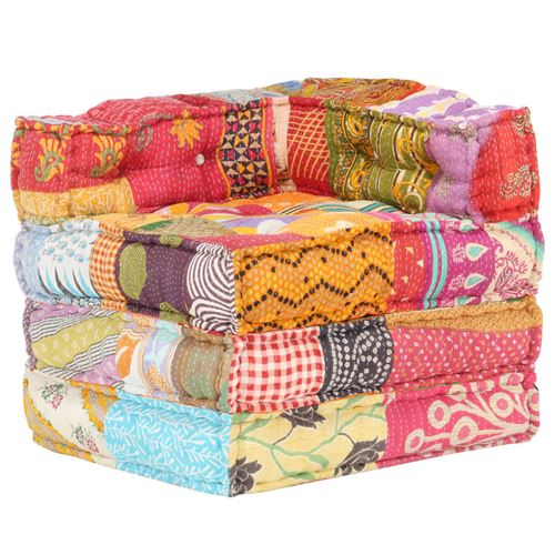 Chunhe Pouf modulaire Patchwork Tissu AB287697
