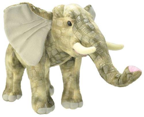 Peluche elephant gris debout 40 cm - animaux d'afrique - wild
