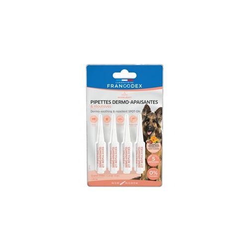 4 Pipettes Dermo-Apaisantes et Repulsives Pour Chiens de plus de 20 kg