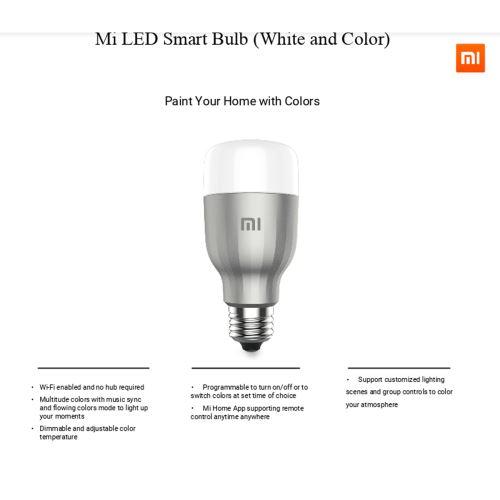 Ampoule connectée Xiaomi Yeelight Version couleur