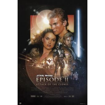 Affiche Star Wars Episode II