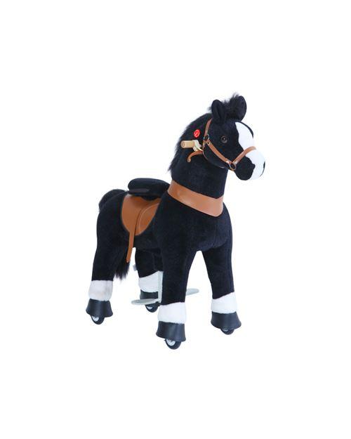 PonyCycle Poney à monter Noir avec sabot blanc Petit Modèle pour 3 à 5 ans