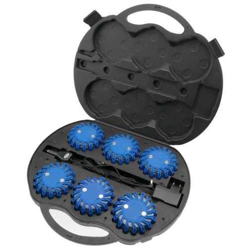 Gyrophare case 6 balises de signalisation LED bleu IP67