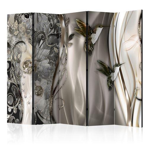 Paris Prix - Paravent 5 Volets source Crystals 172x225cm