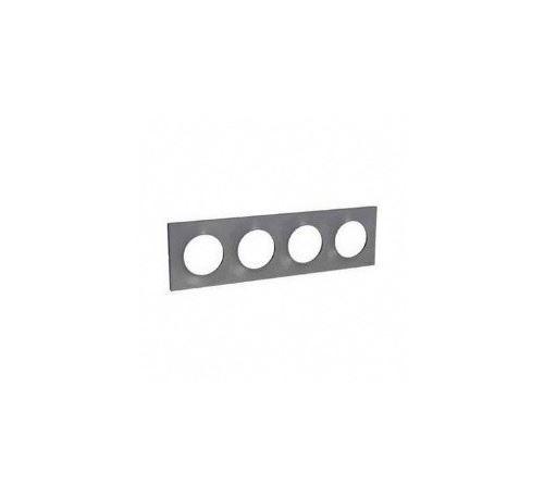 Plaque Odace Styl - Aluminium - Quadruple horizontale / verticale 71mm