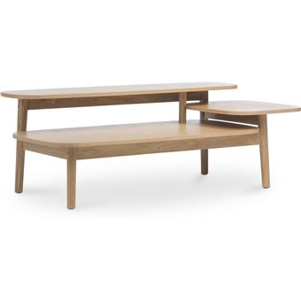 Myfaktory Table Basse A Trois Niveaux Style Scandinave Bois Naturel