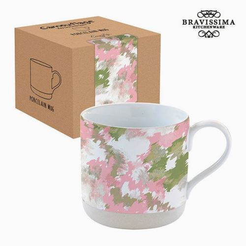 Tasse avec boîte Porcelaine Camouflage Rose by Bravissima Kitchen