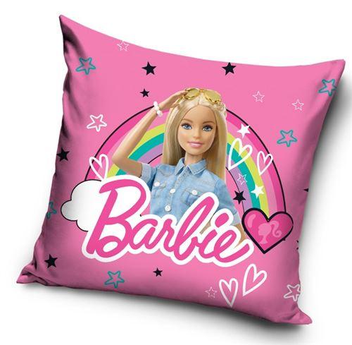 Barbie coussin filles 35 cm polyester rose