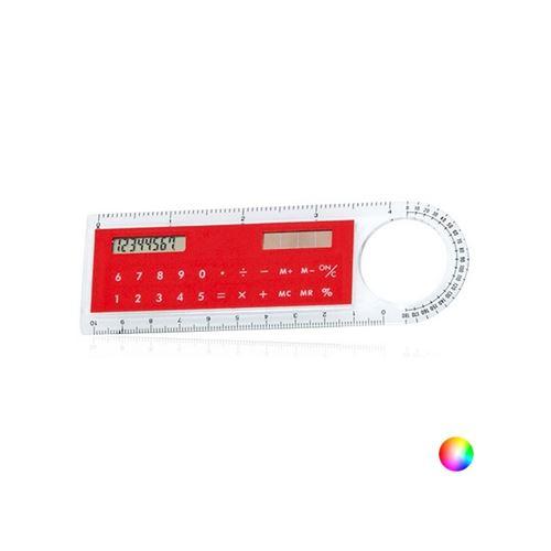 Règle avec Calculatrice Solaire et loupe (10 cm) 143749 (Couleur Noir)