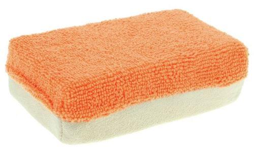 Mr. Kleen duospons 12 x 8 x 4 cm microfibre / cuir orange / beige