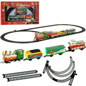Train Sapin De Noel Train électrique de Noël   9 pièces   train avec wagon père noel